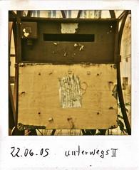 unterwegs II (web.werkraum) Tags: 2005 street original germany polaroid deutschland europa ks association instand skan wegzeichen dasdasein bildfindung berlinerknstlerin tagesnotiz webwerkraum karinsakrowski unterwegsii