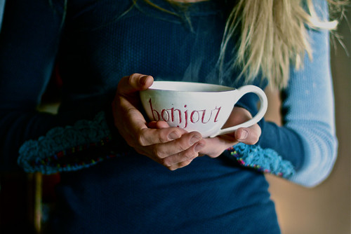 Bonjour All Day Long (28057482@N05), photography tags:  morning cup kitchen french ceramics tea drink teacup bonjour
