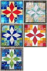4x5 blocks, all (MissRiain) Tags: modern colorful quilt patchwork paperpiecing redpepperquilts beeblocks vision:text=0658 vision:outdoor=0671