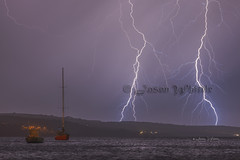 Electric - 0084 (Jason Whittle Photography) Tags: seascape night yacht stormy sa lightning southaustralia strikes longexposer lightningstorm lightningnightshot southaustraliaweather