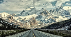 Road to the Rockies (Jeff Clow) Tags: road travel vacation holiday mountains landscape getaway massive albertacanada roadway icefieldsparkway canadianrockies jeffrclow jeffclowphototour