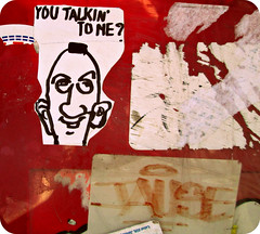 talking to me? (Robert S. Photography) Tags: nyc streetart colour brooklyn digital canon powershot 2014 youtalkintome a3400