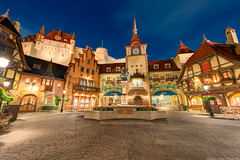 Germany Pavilion - Epcot (TheTimeTheSpace) Tags: fountain night germany stars epcot nikon disney oktoberfest disneyworld pavilion waltdisneyworld hdr biergarten d800 worldshowcase