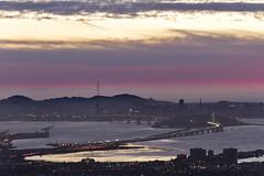 Sunset from Grizzly Peak (lennycarl08) Tags: sanfrancisco california sunset berkeley goldengatebridge baybridge grizzlypeak