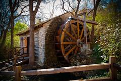 Log Cabin Water Mill (StevenSmith1) Tags: mill log cabin texas avaliablelight sunwater {vision}:{outdoor}=09 {vision}:{sky}=0648 villagefortworth