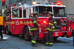 FDNY Tower Ladder 15 (Triborough) Tags: nyc ny newyork tower manhattan firetruck financialdistrict fireengine ladder wallstreet fdny ladder15 lowermanhattan seagrave newyorkcounty towerladder newyorkcityfiredepartment towerladder15