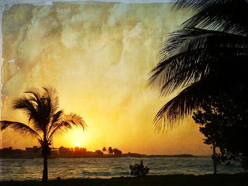 Caribbean sunset series