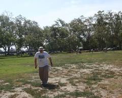 020 Rich Starts His Race (saschmitz_earthlink_net) Tags: california park start losangeles banner parks eldorado longbeach orienteering 2014 losangelescounty laoc eldoradoeastregionalpark losangelesorienteeringclub richhoesly