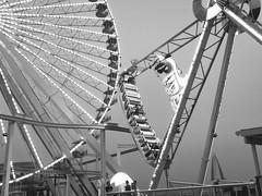 Rip Tide and Ferris (nfin10) Tags: bw wheel canon pier ride tide rip nj ferris powershot boardwalk wildwood moreys g16 nfin10