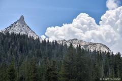 Yosemite - Unicorn Peak - 5698 (www.karltonhuberphotography.com) Tags: california trees sky weather clouds forest threatening landmark yosemite yosemitenationalpark excitement drama tension iconic thrill stormclouds conditions approachingstorm 2015 unicornpeak yosemitehighcountry mountainpeak billowingclouds cumulusnimbusclouds karltonhuber