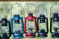 Oil lamps (nikos_m) Tags: blue red camp nikon 85mm oillamps d7000 kakovatos