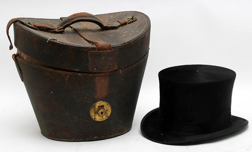 Lincoln Bennett Top Hat and Leather Travel Case ($123.20)
