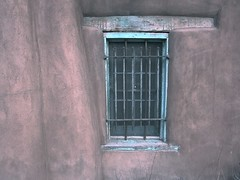 Turquoise Accent (suenosdeuomi) Tags: turquoise window santafe newmexico canons90 fenêtre fenster adobe