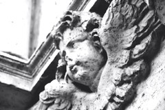 Cherub (~Roberta~) Tags: cherub angel marble statue rome nikon nikond5200 art blackandwhite biancoenero roma