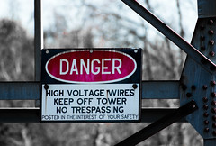 dangersign (richardszeller) Tags: newjersey newyork new sign march art danger nikon camera photo adventure nyc outside outdoors railroad nature metal digital red