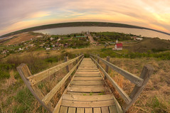Step into the Valley (Michael Squier) Tags: sunset landscape fisheye saskatchewan 8mm hdr bower lebret