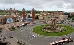 Plaa d'Espaa - Barcelona (konceptsketcher) Tags: barcelona city travel photography spain europe traffic espana busy catalunya placa 2013 konceptsketcher