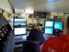The business end. (barronr) Tags: scotland control 4x4 ambulance command communications unimog musselburgh britishredcross edinburghmarathon uploaded:by=flickrmobile flickriosapp:filter=nofilter