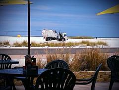 Beach buggy ? (Dave* Seven One) Tags: ocean family vacation beach gulfofmexico water fun sand funny gulf treasureisland florida lol sandy salt roadtrip fl wtf saltwater garbagetruck flickrandroidapp:filter=none