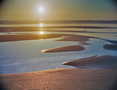 Pearlescent (intrazome) Tags: ocean light sunset sea england film nature beautiful 35mm landscape nikon cornwall waves tide f80 fujisuperia200 filmphotography shootingonfilm