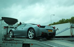 Ferrari 458 Spider (Dannny32) Tags: holland netherlands grey spider highway transport engine nederland convertible ferrari motor a1 petrol cabrio v8 grijs cabriolet the 458 snelgweg