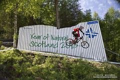 Nick Beer (DMeadows) Tags: world mountain cup beer bike wall forest woodland scotland highlands jump natural swiss year nick downhill highland biking biker range mor wallride uci nevis 2013 davidmeadows aanoch eventscotland dmeadows davidameadows dameadows
