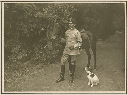 [German officer with horse and Bobby]
