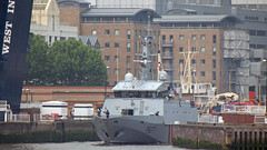 French Navy (OPV-54) Flamant-Class Offshone Patrol Vessel FS Cormoran P677 /20/06/2013/ (philip bisset) Tags: three day canarywharf stay londondocklands westindiadock p677 20062013 flamantclass fscormoran frenchnavyopv54offshonepatrolvessel