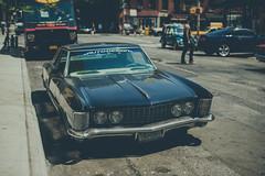 DSC_6236 (Tom Lennon Design) Tags: road street new york green car corner 50mm nikon day engine hood avenue bonnet d600