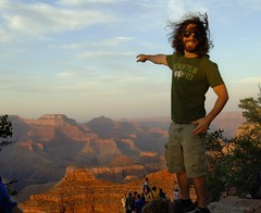Jason at Grand Canyon_3639 (Mr. Physics) Tags: travel family vacation jason silly funny grandcanyon hippy msoller