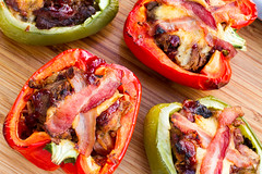 BBQ Pork Stuffed Peppers (Another Pint Please...) Tags: cheese bacon stuffed bbq pork grilling pepers