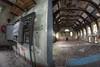 Exit stage left (Explore) (Kriegaffe 9) Tags: abandoned hall decay stage ceiling fisheye explore controls pel split asylum ue electrics kerpow urbex d600 explored