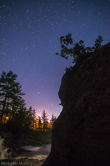 Cliff and Stars (Moose River) (10mmm) Tags: longexposure trees water night star waterfall rocks adirondacks startrails mooseriver miklyway