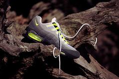 Nike Air Max 95 - 1999 Retro (Arab Lincoln) Tags: white black classic nature grey nikon shoes neon mesh sneakers nike 98 gradient kicks 95 93 90 airmax suede 87 97 swoosh nikeairmax nubuck airmax95 am95 d300s neon95 nikond300s