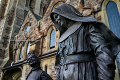 Mary Mackillop   . (francisling) Tags: saint statue zeiss 35mm t francis cathedral sony south mary australia cybershot nun adelaide christianity xavier mckillop sonnar    rx1       dscrx1