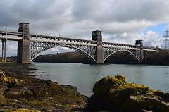 Britannia Bridge (mkshunter) Tags: bridge wales architecture landscape cymru britannia gwynedd anglesey northwales britanniabridge