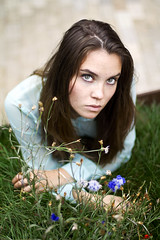 (Polina Medvedeva) Tags: new city morning girls summer portrait people cute nature girl canon 50mm ginger cool nice pretty moscow gorgeous teenagers sunny august teenager chill 550d