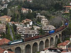 E405.004 + MD Cervignano-TS Campo Marzio - 20/04/2013 (mikelets84) Tags: md merci ponte campo ts 004 trieste barcola marzio motore blocchi cervignano e405 wartsila