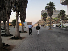 Walking north along the Tel Aviv Promenade Photo