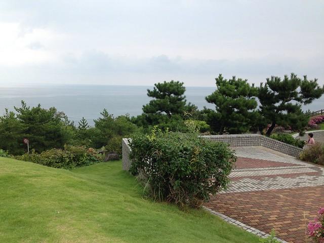 海の見えるサービスエリアで休憩|米山SA(下り)