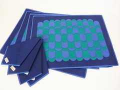 Op art table mats & napkins (planetutopia) Tags: house vintage design designer retro 1950s danish 1960s 1970s modernist midcentury homeware eamesera