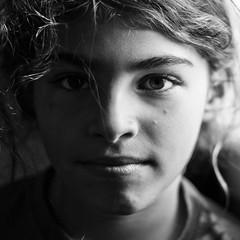 Kyriaki (big andrei) Tags: leica portrait bw girl hair m9 75mm20
