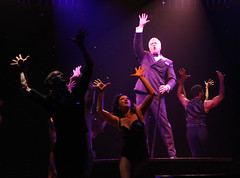 Tom Hewitt (Billy Flynn) and ensemble in Chicago produced by Music Circus at the Wells Fargo Pavilion August 20-29, 2013. Photo by Charr Crail.
