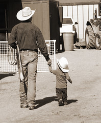 v&k (wildwrangler77) Tags: ranch horses cowboy western rodeo fatherandson littlecowboy bigcowboy