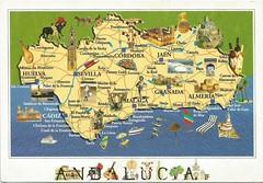 Andalucía - mapa (tico_manudo) Tags: españa andalucía maps mapas turismoenespaña mapcards