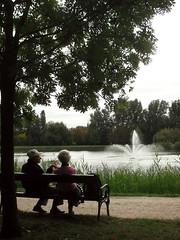9 (sk0201) Tags: park autumn lake tree green bench hungary september paparazzi