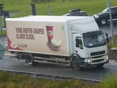 BX58 LNT (Cammies Transport Photography) Tags: wild caf truck volvo edinburgh bean lorry fl bp newbridge flyover dhl m9 bx58lnt