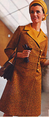 Sears 68 fw tweed coat (jsbuttons) Tags: yellow 60s buttons sears coat womens catalog 1968 sixties 68 vintageclothing vintagefashion buttonfront