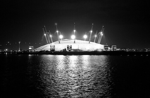 The O2 Arena with a 50p camera