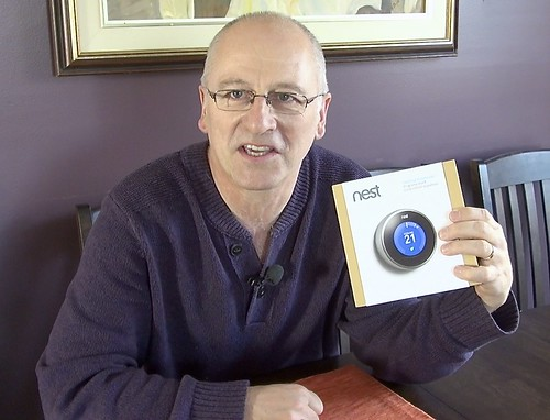 David Dodge of Green Energy Futures with the Nest learning thermostat